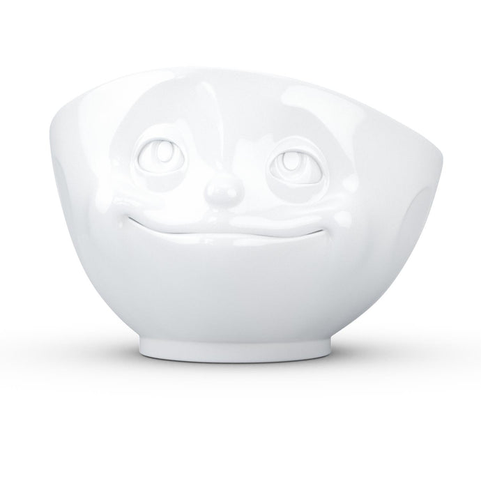 16 ounce capacity porcelain bowl featuring a sculpted 'dreamy' facial expression. From the TASSEN product family of fun dishware by FIFTYEIGHT Products. Quality bowl perfect for serving cereal, soup, snacks and much more.