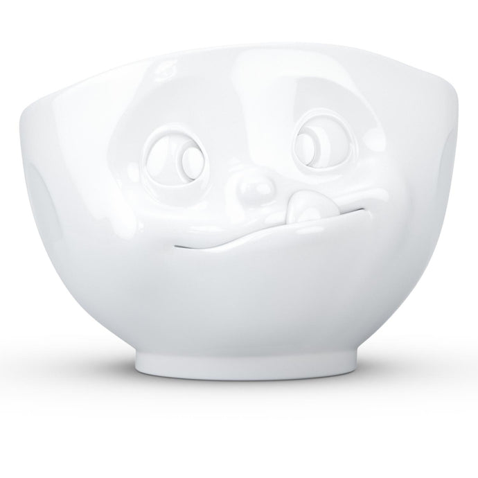 16 ounce capacity porcelain bowl featuring a sculpted 'tasty' facial expression. From the TASSEN product family of fun dishware by FIFTYEIGHT Products. Quality bowl perfect for serving cereal, soup, snacks and much more.