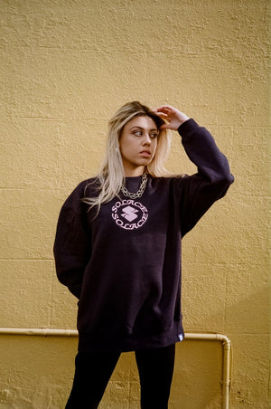 Load image into Gallery viewer, Revolver Crewneck - Navy/Pink