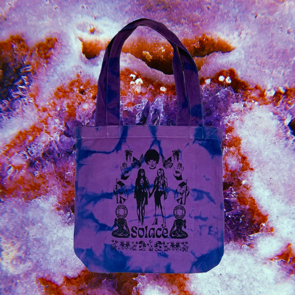 Load image into Gallery viewer, Forest Carrie bag - Purple tie dye