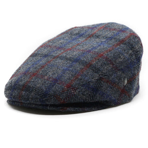 City Sport Pet blauw grijs groot geruit harris tweed