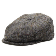 Afbeelding in Gallery-weergave laden, City Sport Pet donker grijs visgraat harris tweed