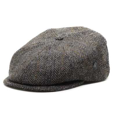 City Sport Pet donker grijs visgraat harris tweed