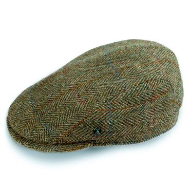 City Sport Pet licht groen visgraat harris tweed
