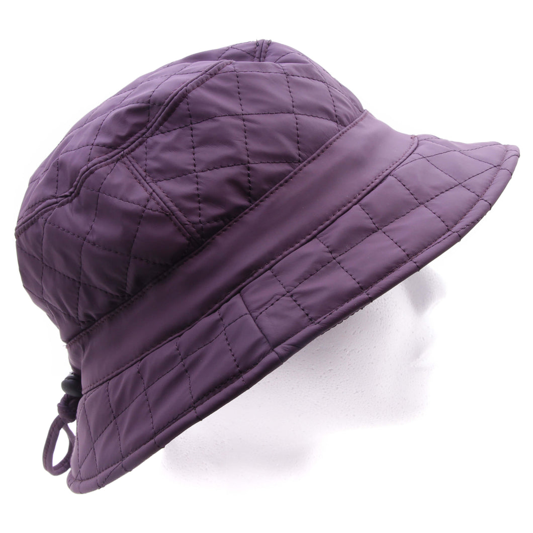Fiebig Hoed mauve effen polyester