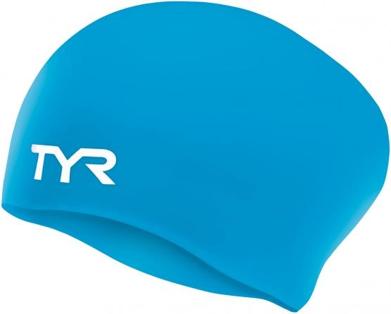 TYR Long Hair Wrinkle-Free Silicone Adult Swim Cap