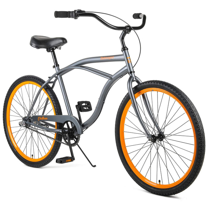 "Retrospec Chatham Beach Cruiser 3-Speed 26"" - Matte Graphite/Orange 2021"