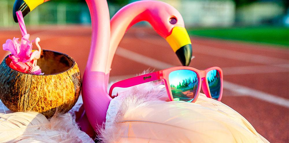 Goodr The OGs Flamingos On A Booze Cruise Classic Sunglasses