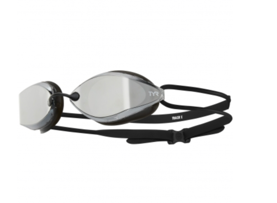 TYR Tracer-X Racing Adult Goggles - Mirrored Silver/Black