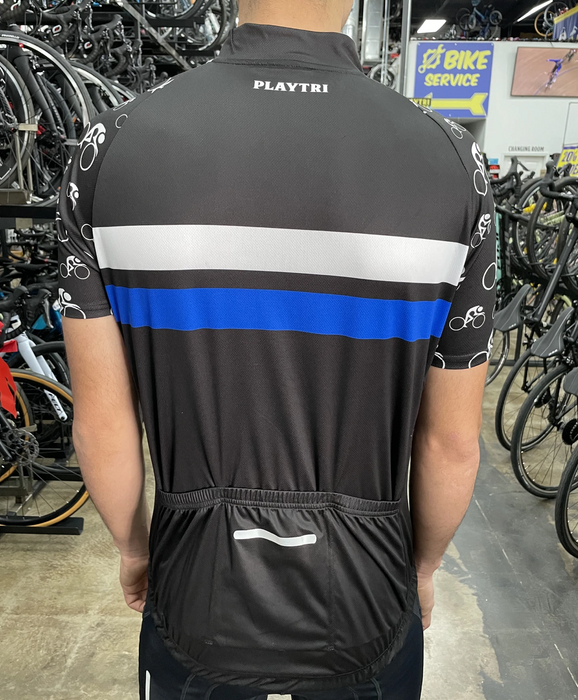 Playtri Unisex Cycling Jersey - Blue