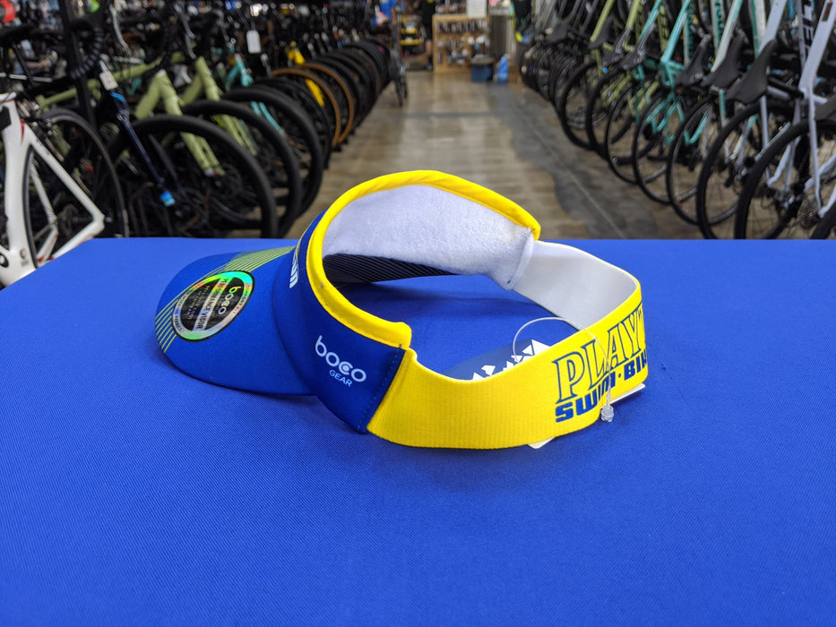 Playtri Performance Visor Blue and Yellow