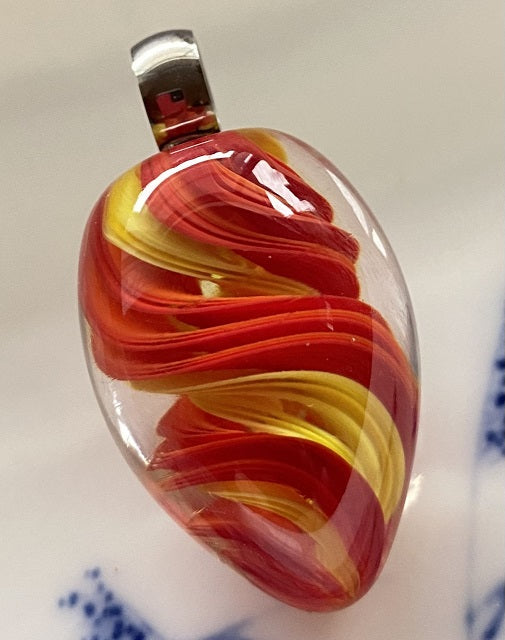 April 2021: Red and Yellow Ribbon Marble