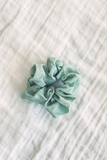 Linen scrunchie in sage