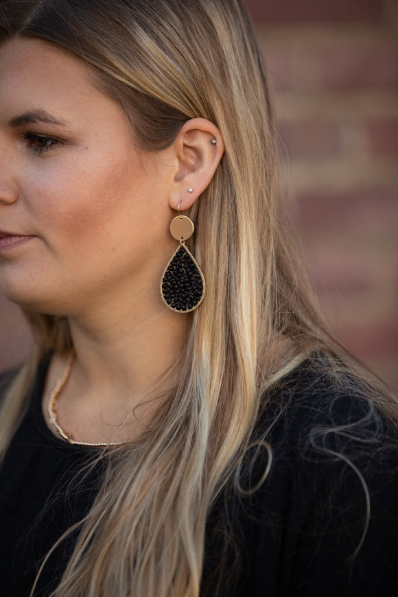 Take Me to Church Black Statement Earrings - Shop Unrivaled