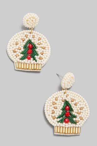 Beaded Snow Globe Earrings - Shop Unrivaled