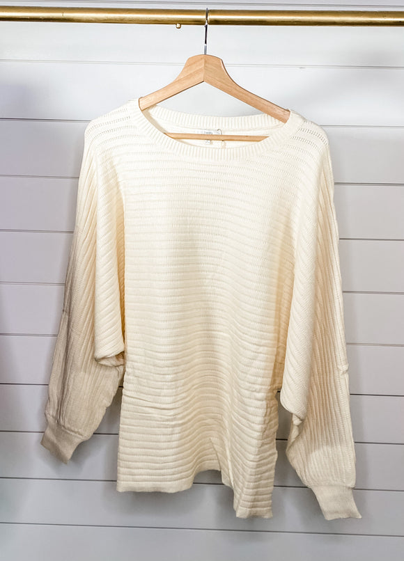 Be Mine Ribbed Knit Sweater- CURVY - Shop Unrivaled