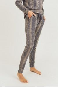 Brenna Snake Print Lounge Pants - Shop Unrivaled