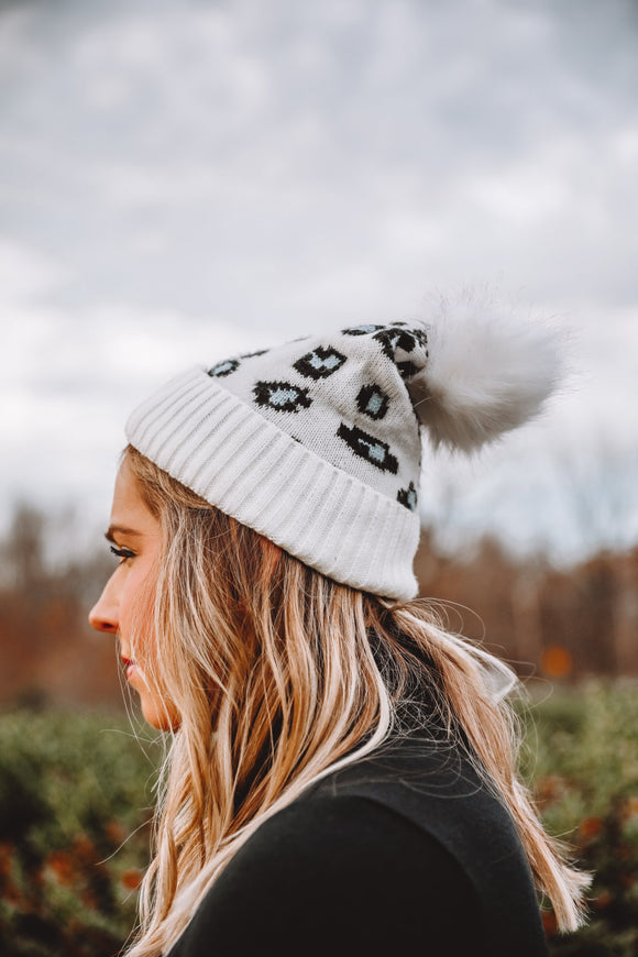 Leopard Beanie - Shop Unrivaled