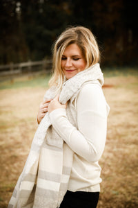 Cream Leopard Scarf - Shop Unrivaled