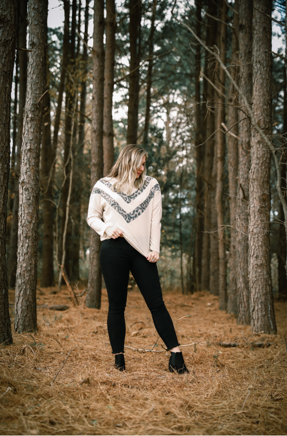 Sadie Solid + Leopard Long Sleeve - Shop Unrivaled