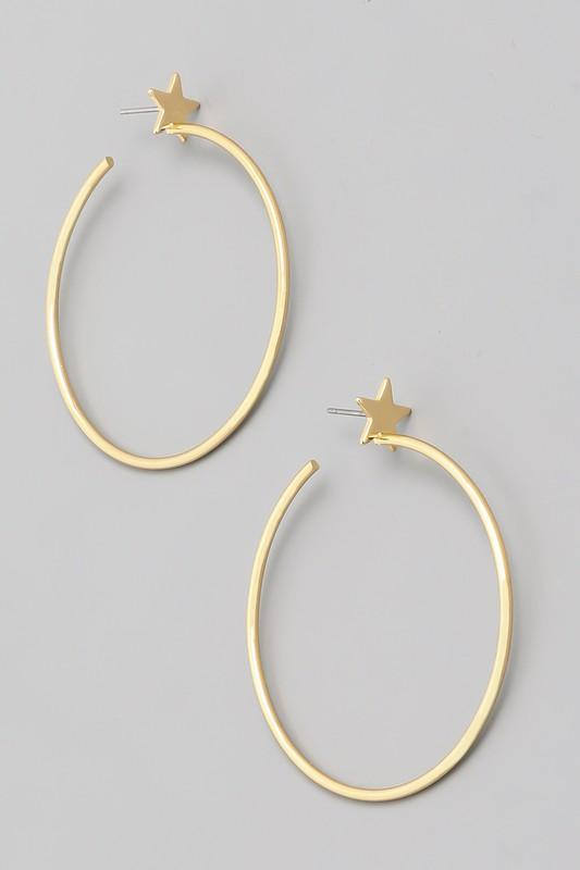 Star Studded Hoop - Shop Unrivaled