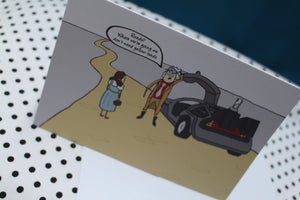 'Yellow Roads' Parody Greeting Card