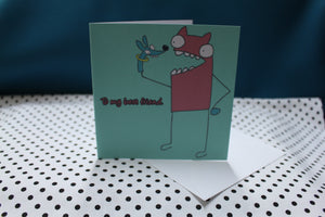 'Puppet Pal' Greeting Card