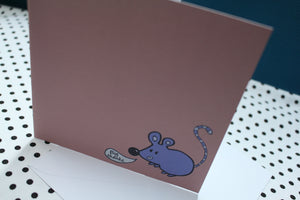 'Bubble Mouse' Greeting Card