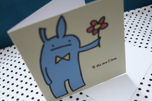 'Sweet Bunny' Valentine Love Greeting Card