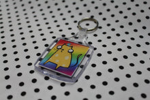 Load image into Gallery viewer, 'Rainbow Cheese Cat' Keyring