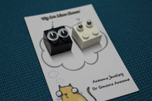 Load image into Gallery viewer, LEGO Brick 'Googly Eyes' Character Earrings - Soot Sprite and Dust Bunny