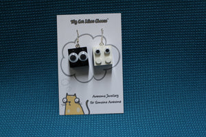 LEGO Brick 'Googly Eyes' Character Earrings - Soot Sprite and Dust Bunny