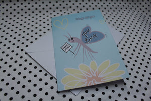 'Hug Bug' Googly Greeting Card