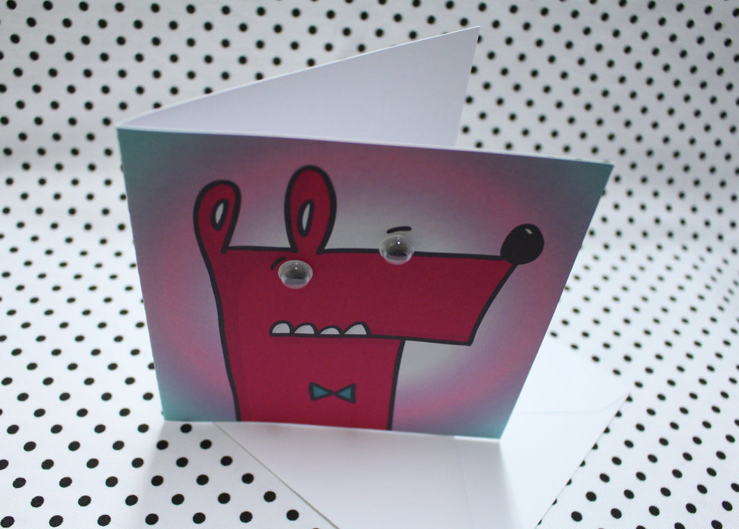 'Googly Bow Tie Guy' Greeting Card