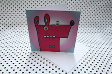 Load image into Gallery viewer, 'Googly Bow Tie Guy' Greeting Card
