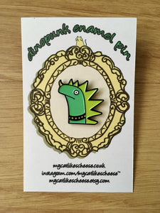 'Dinopunk' Enamel Pin Badge