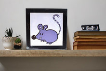 Load image into Gallery viewer, 'Bubble Mouse' Art Print Square