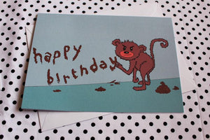 'Monkey Mess' Greeting Card