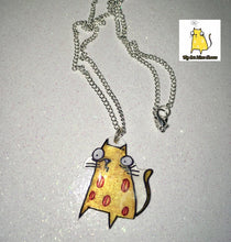Load image into Gallery viewer, 'Cheese Cat' Necklace