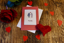 Load image into Gallery viewer, 'Love Birds' Red Valentine Love Greeting Card