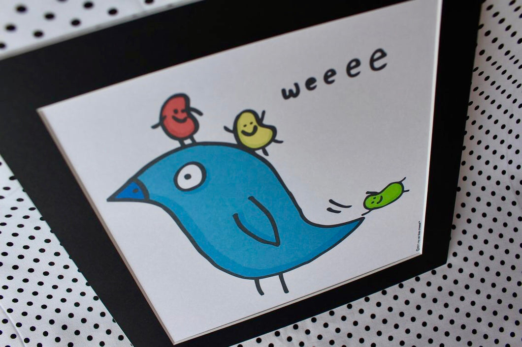 'Bird Fun' Art Print Square