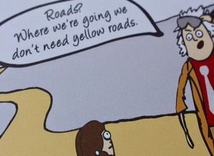 'Yellow Roads' Parody Art Print