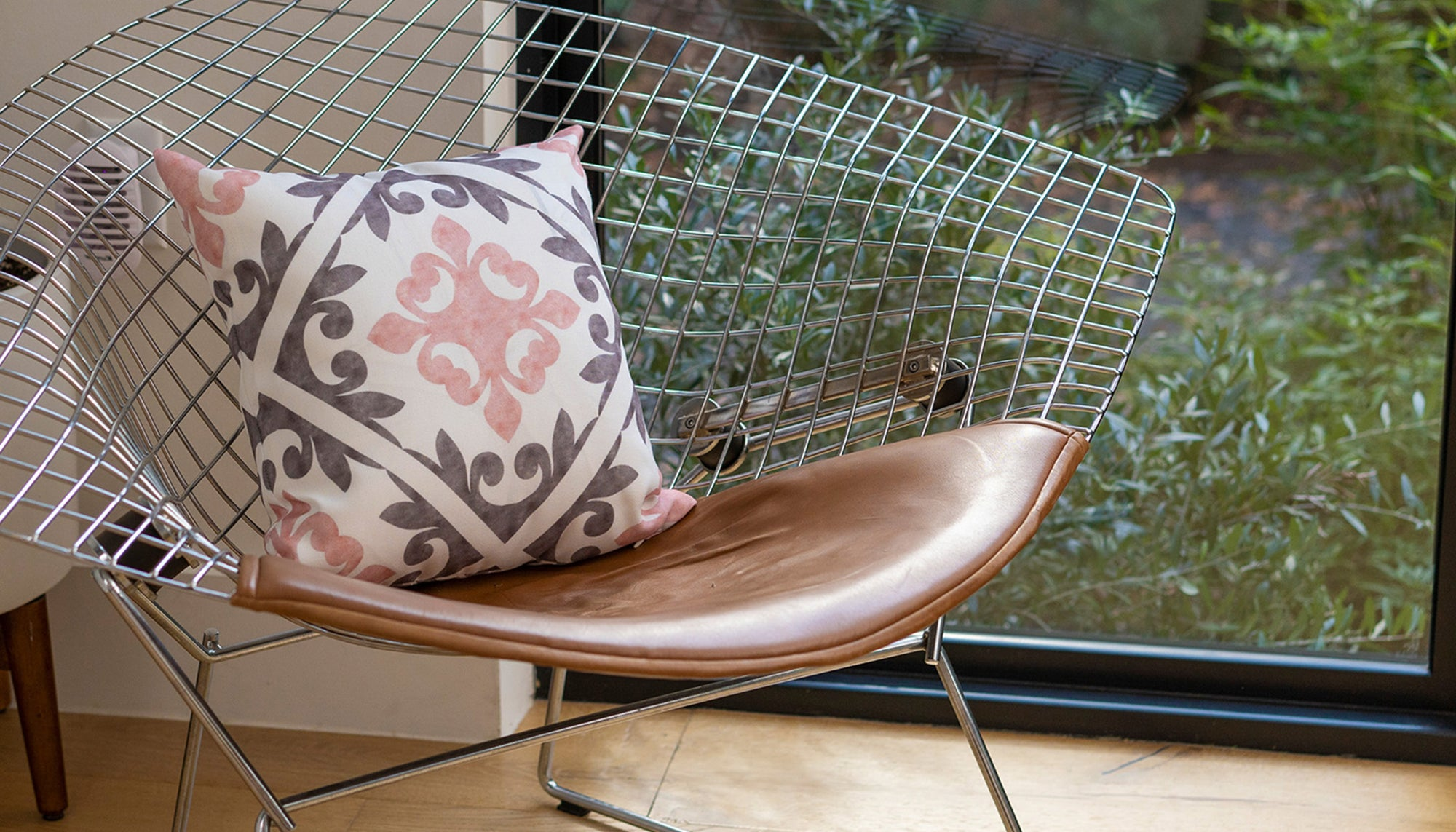 Midcentury Modern Chair with Pillow