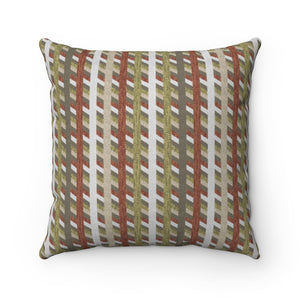 Taos Stripe Square Throw Pillow in Olive Green