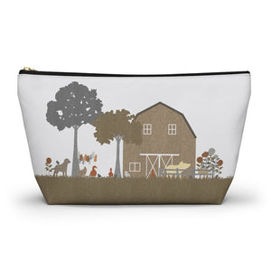 Barnyard Fun Accessory Pouch w T-bottom in Brown