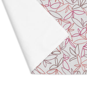 Sketch Leaf Placemat in Coral