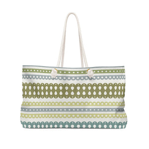 Ribbon Candy Weekender Bag in Aqua