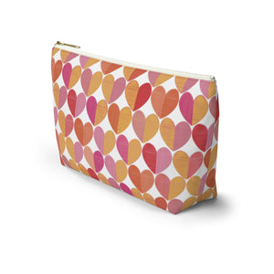 Love Accessory Pouch w T-bottom in Red