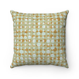 Ikat Texture Overlay Square Throw Pillow in Aqua
