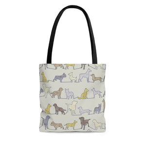 Dogs Tote Bag in Yellow